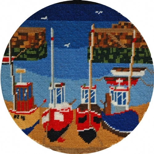 Round Harbour Tapestry Kit, Cleopatra's Needle - Chas Jacobs BB02