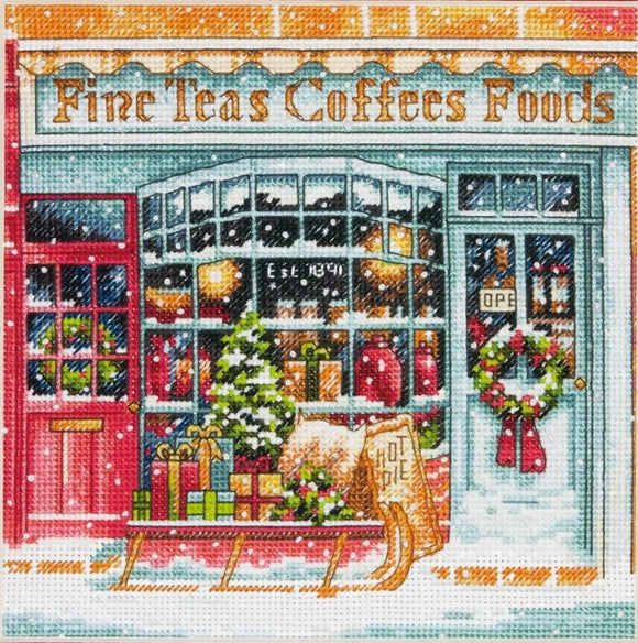 Coffee Shoppe Cross Stitch Kit, Dimensions D70-08973
