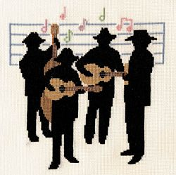 Country Music Cross Stitch Kit, Derwentwater Designs JAZZ3
