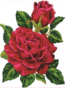 Crimson Red Rose Tapestry Kit, Grafitec K03-285