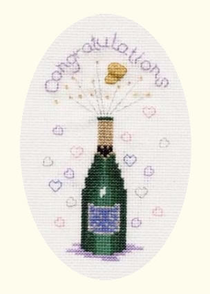 Cross Stitch Kit Congratulations Greeting Card, Counted Cross Stitch CDG09