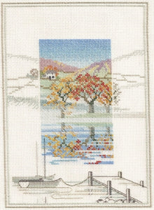 Needlework Crafts Full Embroidery Counted Cross Stitch Kits Mucha Four Seasons
