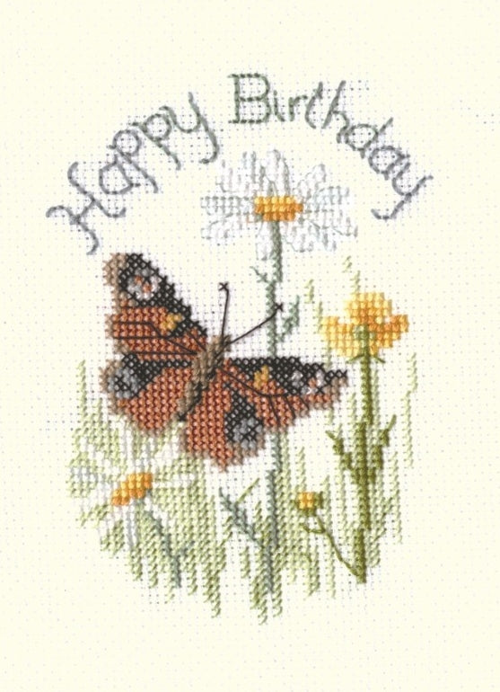 Cross Stitch Kit Butterfly Greeting Card, Counted Cross Stitch CDG24
