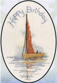 Sailing Boat Greeting Card, Counted Cross Stitch Derwentwater CDG/0