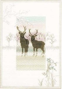 Cross Stitch Kit Frosty Deer, Counted Cross Stitch Kit Derwentwater