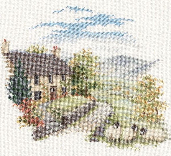 Cross Stitch Kit High Hill Farm, Counted Cross Stitch Kit Derwentwater