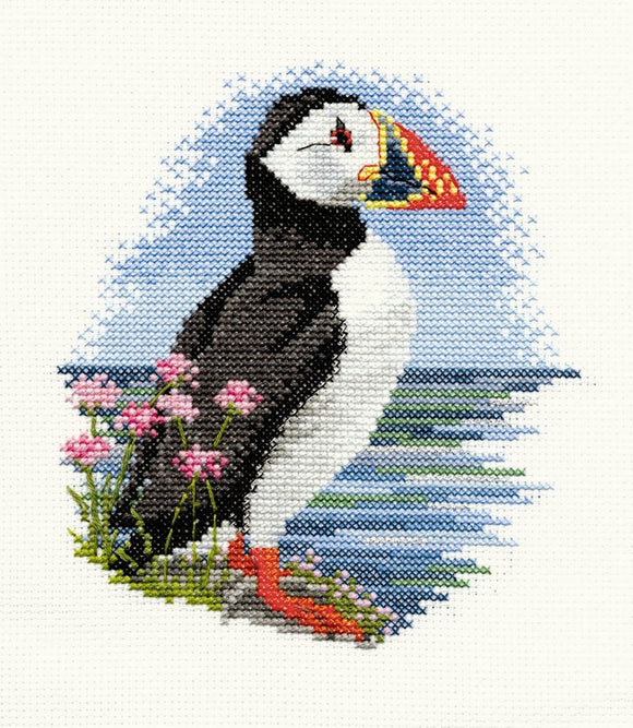 Cross Stitch Kit Puffin, Counted Cross Stitch Kit Derwentwater