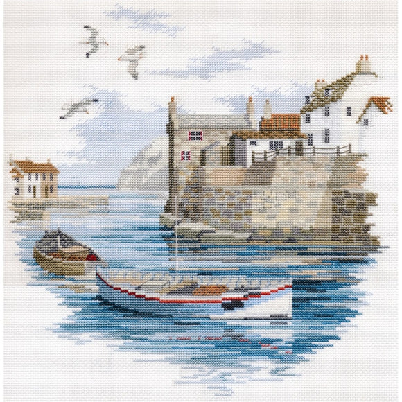 Cross Stitch Kit Secluded Port, Counted Cross Stitch Kit Derwentwater