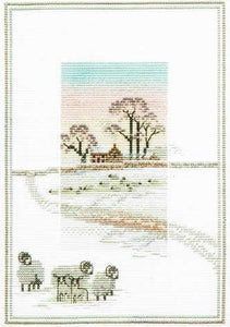 Cross Stitch Kit Snowy Sheep, Counted Cross Stitch Kit Derwentwater