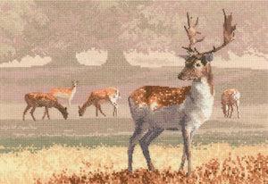 Deer Park Counted Cross Stitch Kit, John Clayton, Heritage Crafts