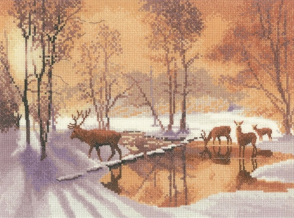 Stepping Stones Counted Cross Stitch Kit, John Clayton, Heritage Crafts