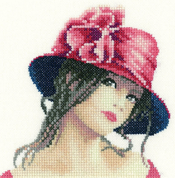 Claire, Elegance - Cross Stitch Kit Mini, Heritage Crafts, John Clayton