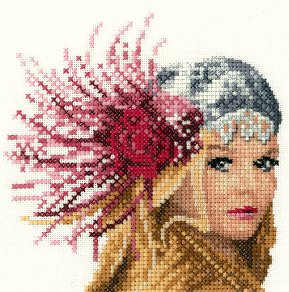 Fleur, Elegance - Heritage Counted Cross Stitch Kit Miniature, John Clayton