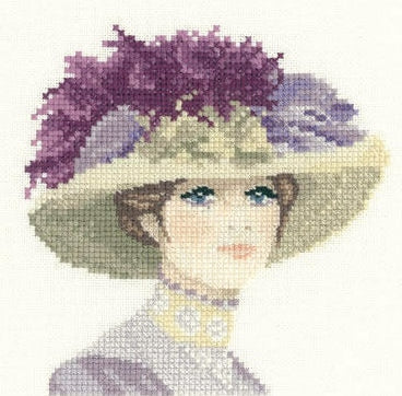 Hannah, Elegance - Heritage Counted Cross Stitch Kit Miniature, John Clayton