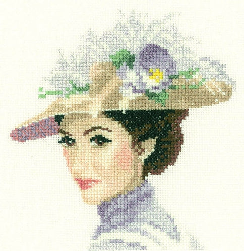 Rebecca, Elegance - Heritage Counted Cross Stitch Kit Miniature, John Clayton