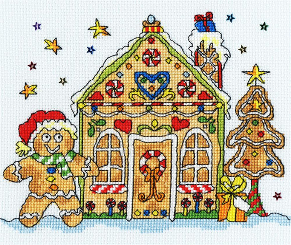 Gingerbread House Cross Stitch Kit, Bothy Threads XSD6