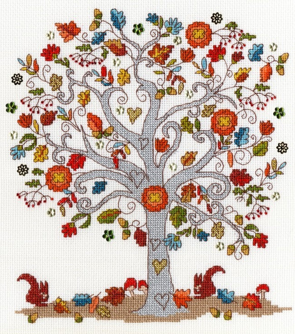 Cross Stitch Kit Love Autumn, Counted Cross Stitch XKA12