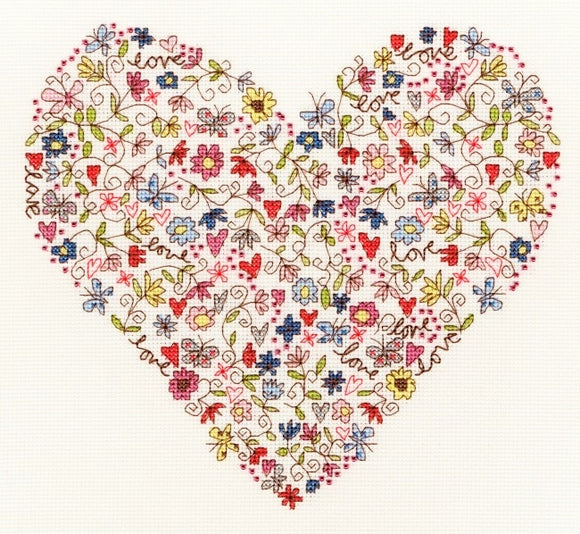 Cross Stitch Kit Love Heart, Counted Cross Stitch XKA1