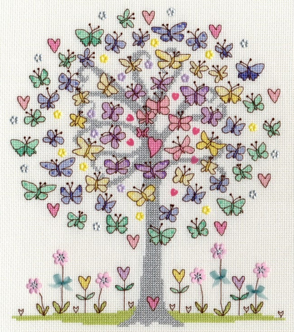 Cross Stitch Kit Love Spring, Counted Cross Stitch XKA10