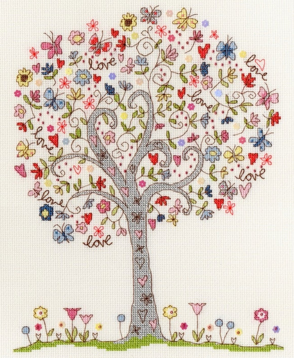 Cross Stitch Kit Love Tree, Counted Cross Stitch XKA2