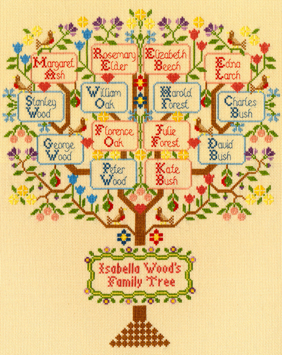 Cross Stitch Kit Traditional Family Tree, Bothy Threads XBD2
