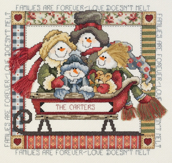 Cross Stitch Kit, Families are Forever Counted Cross Stitch Kit 080-0473