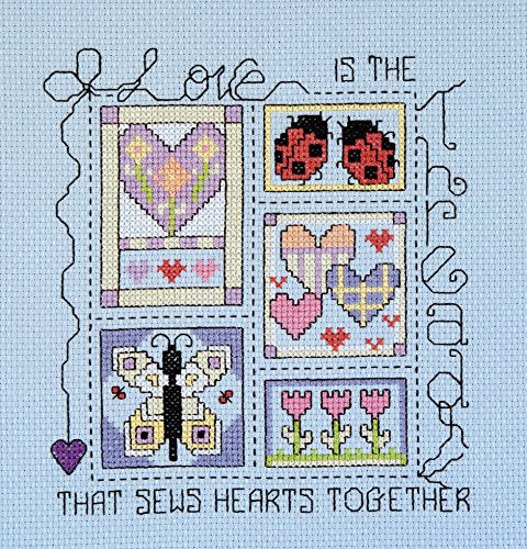 Cross Stitch Kit, Love is the Thread Counted Cross Stitch Kit 080-0478