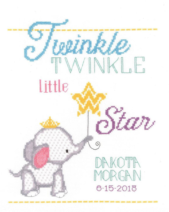 Twinkle Birth Sampler Counted Cross Stitch Kit Janlynn 182-0412