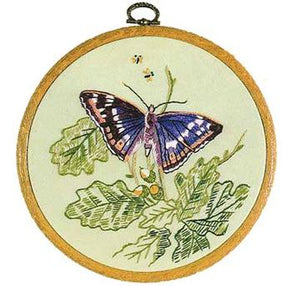 Embroidery Kit Butterfly Purple Emperor, Design Perfection E157