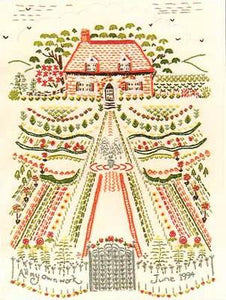 Embroidery Kit Cottage Garden Beginner's Kit, Design Perfection ES50
