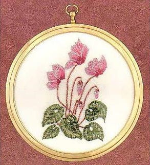 Embroidery Kit Cyclamen Mini, Design Perfection E504