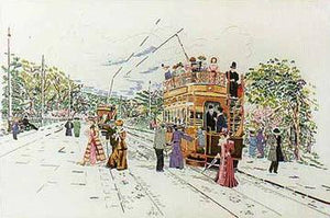 Embroidery Kit Edwardian Tram, Design Perfection E128