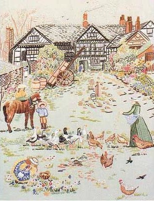 Embroidery Kit Manor Farm, Design Perfection E146