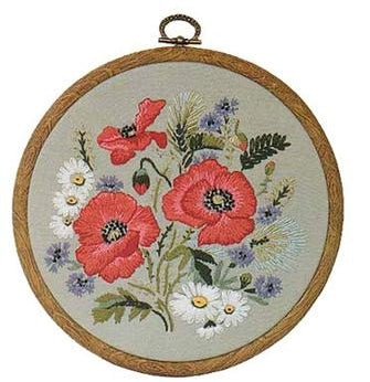 Embroidery Kit Poppies, Design Perfection E137