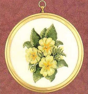 Embroidery Kit Primroses Mini, Design Perfection E501