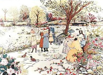 Embroidery Kit A Stroll in the Park, Design Perfection E172