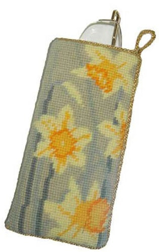 Spring Daffodils Tapestry Kit Glasses Case/Phone Case, Cleopatra's Needle