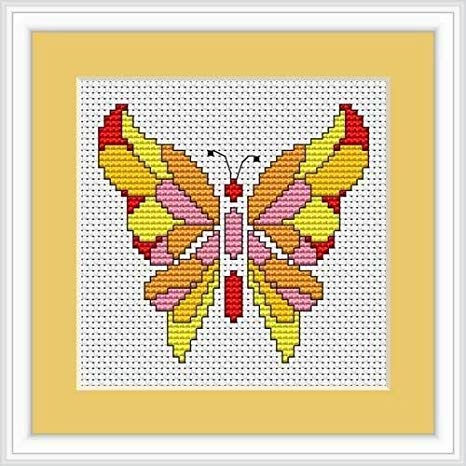 Deco Butterfly Cross Stitch Kit Mini, Riolis B049