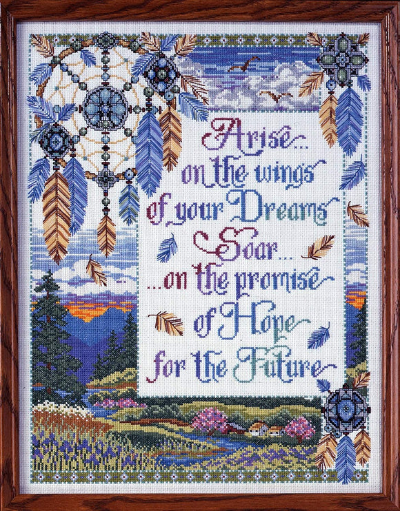 Cross Stitch Kit Arise on the Wings, Counted Cross Stitch Kit 9872