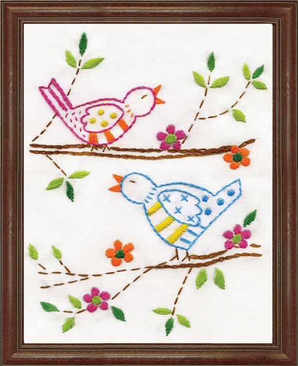 Bird Family Embroidery Kit, Design Works 3307