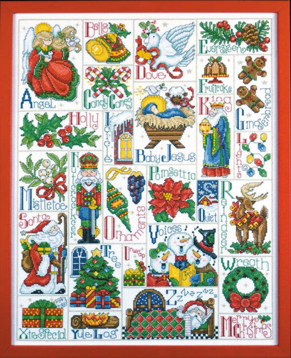 Cross Stitch Kit Christmas ABC, Counted Cross Stitch Kit 5458