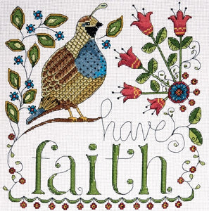 Have Faith Cross Stitch Kit, Design Works 2791