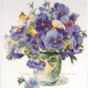 Cross Stitch Kit Pansy Floral, Counted Cross Stitch Kit 2771