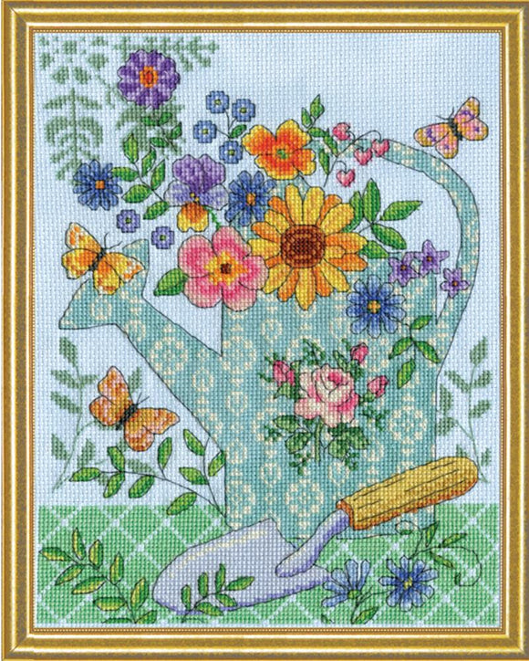 Cross Stitch Kit Watering Can, Counted Cross Stitch Kit 2949