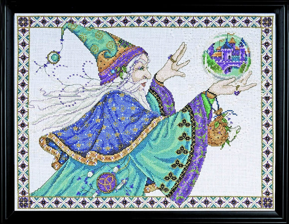 Cross Stitch Kit Magical Wizard, Counted Cross Stitch Kit 2761