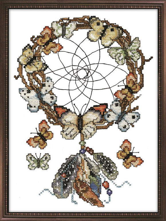 Dreamcatcher PRINTED Cross Stitch Kit, Design Works 3252