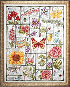 Cross Stitch Kit Floral ABC, Counted Cross Stitch Kit 2492