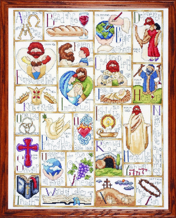 Cross Stitch Kit Inspirational ABC, Counted Cross Stitch Kit 2432