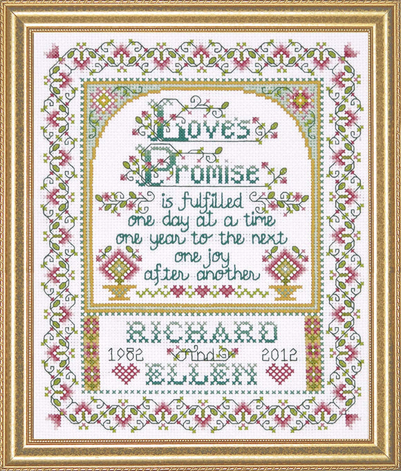 Cross Stitch Kit Loves Promise, Counted Cross Stitch Kit 2758