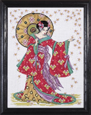 Red Geisha Cross Stitch Kit, Design Works 2740